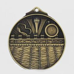 Embossed Swimming Medal 50mm Gold