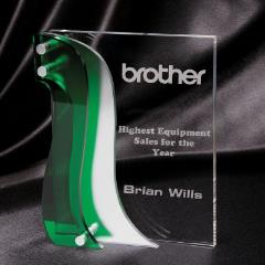Green & Silver Acrylic Stand 190mm