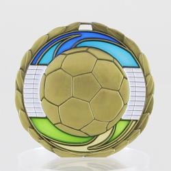 Stained Glass Soccer Medal 65mm