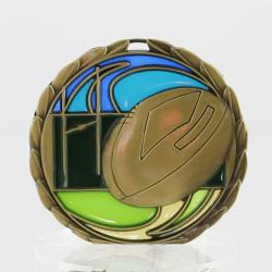Stained Glass Rugby Medal 65mm