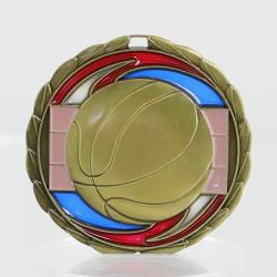Stained Glass Basketball Medal 65mm