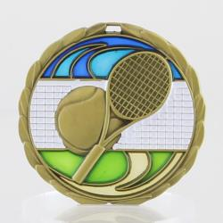 Stained Glass Tennis Medal 65mm