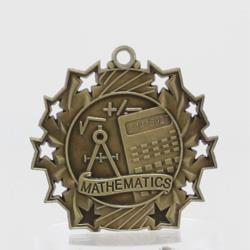 Ten Star Maths Medal 60mm