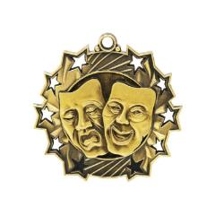 Ten Star Drama Medal 60mm