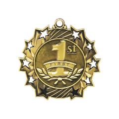 Ten Star 1st Place Medal 60mm