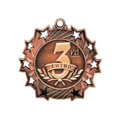 Ten Star 3rd Place Medal 50mm