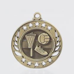 Galaxy Netball Medal 60mm