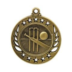 Galaxy Cricket Medal 60mm