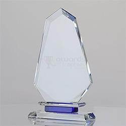 Crystal Arrowhead on Blue Plinth 180mm