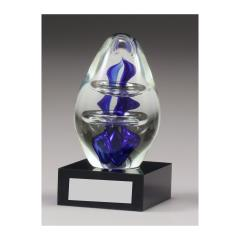 Art Glass Blue Dome 130mm