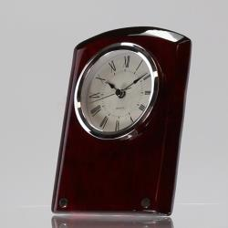 Classic Rosewood & Silver Clock