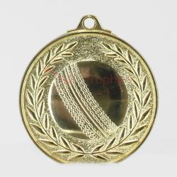 Wreath Cricket Medal 50mm Gold