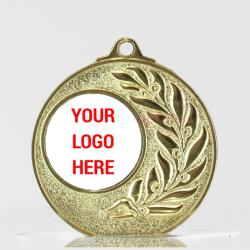 Shiny Laurel Personalised Medal 50mm