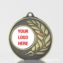 Laurel Personalised Medal 50mm Gold