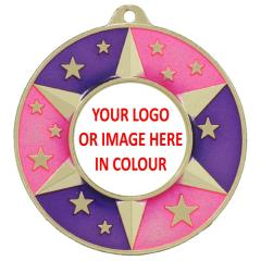 Colour Personalised Medal 50mm