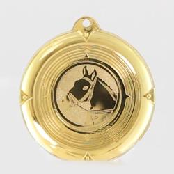 Deluxe Equestrian Medal 50mm Gold