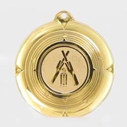 Deluxe Cricket Medal 50mm