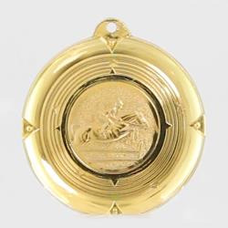 Deluxe Showjumping Medal 50mm Gold