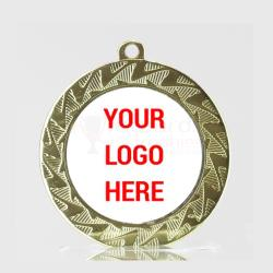 Jagged Personalised Medal 70mm Gold
