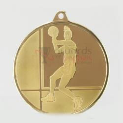 Glacier Netball Medal 50mm Gold