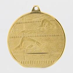 Glacier Swimming Medal 50mm Gold
