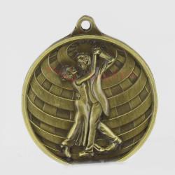 Global Ballroom Dance Medal 50mm Gold