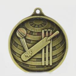 Global Cricket Medal 50mm Gold