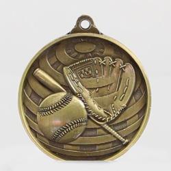 Global Baseball Medal 50mm Gold
