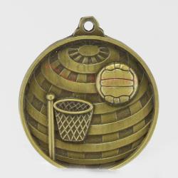 Global Netball Medal 50mm Gold