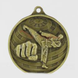 Global Martial Arts Medal 50mm Gold