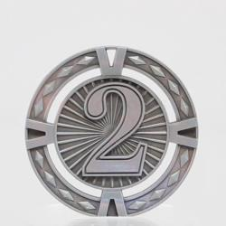 Cutout Embossed 2nd Place Medal 60mm