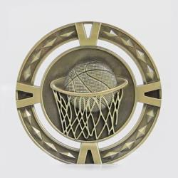 Cutout Embossed Basketball Medal 60mm