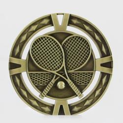 Cutout Tennis Medal 60mm  Gold