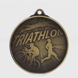 Starburst Triathlon Medal 50mm Gold