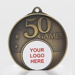 Personalised 50 Games Medal 50mm