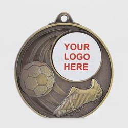 Swish Personalised Soccer Medal 50mm Gold