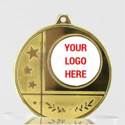 Glacier Personalised Medal 50mm Gold