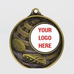Global AFL Logo Medal 50mm Gold