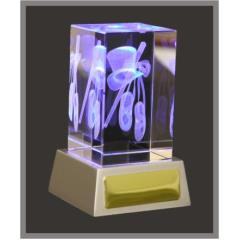 3D Dance Crystal & LED lights 110mm high