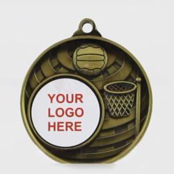 Global Netball Logo Medal 50mm Gold