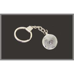 Crystal Soccerball Keyring