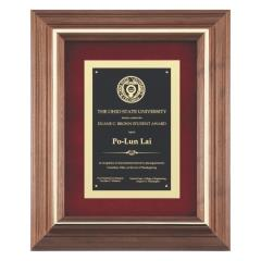 Framed Brass Plaque