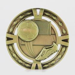 Cutout Embossed Soccer Medal 60mm