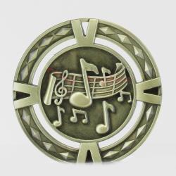 Cutout Music Medal 60mm Gold