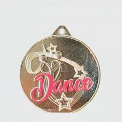 Twirl Dance Medal with Pink 50mm