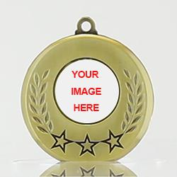 Olympia Personalised Medal 50mm Gold