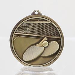 Triumph Table Tennis Medal 50mm Gold