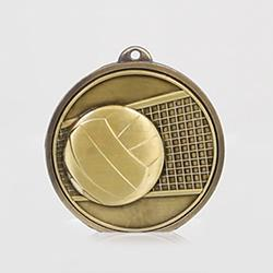 Triumph Volleyball Medal 50mm Gold
