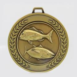 Heavyweight Fishing Medal 70mm Gold