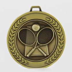 Heavyweight Tennis Medal 70mm Gold
